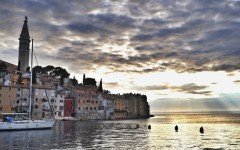 Rovinj in the Mediterranean