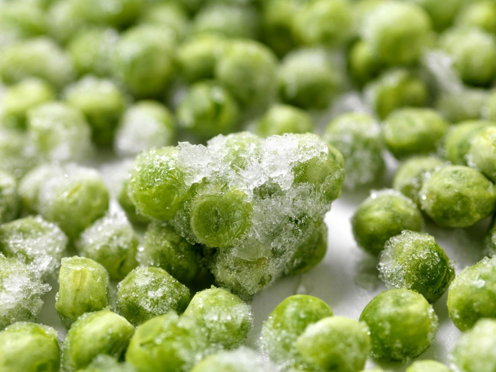 frozen peas are a processed food