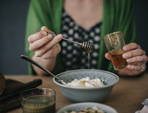 yogurt with honey is packed with probiotics for a healthy gut
