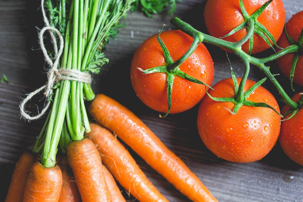 do carrots and tomatoes change the ph of your body