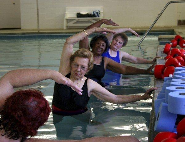 aqua aerobics classes are great for exercise