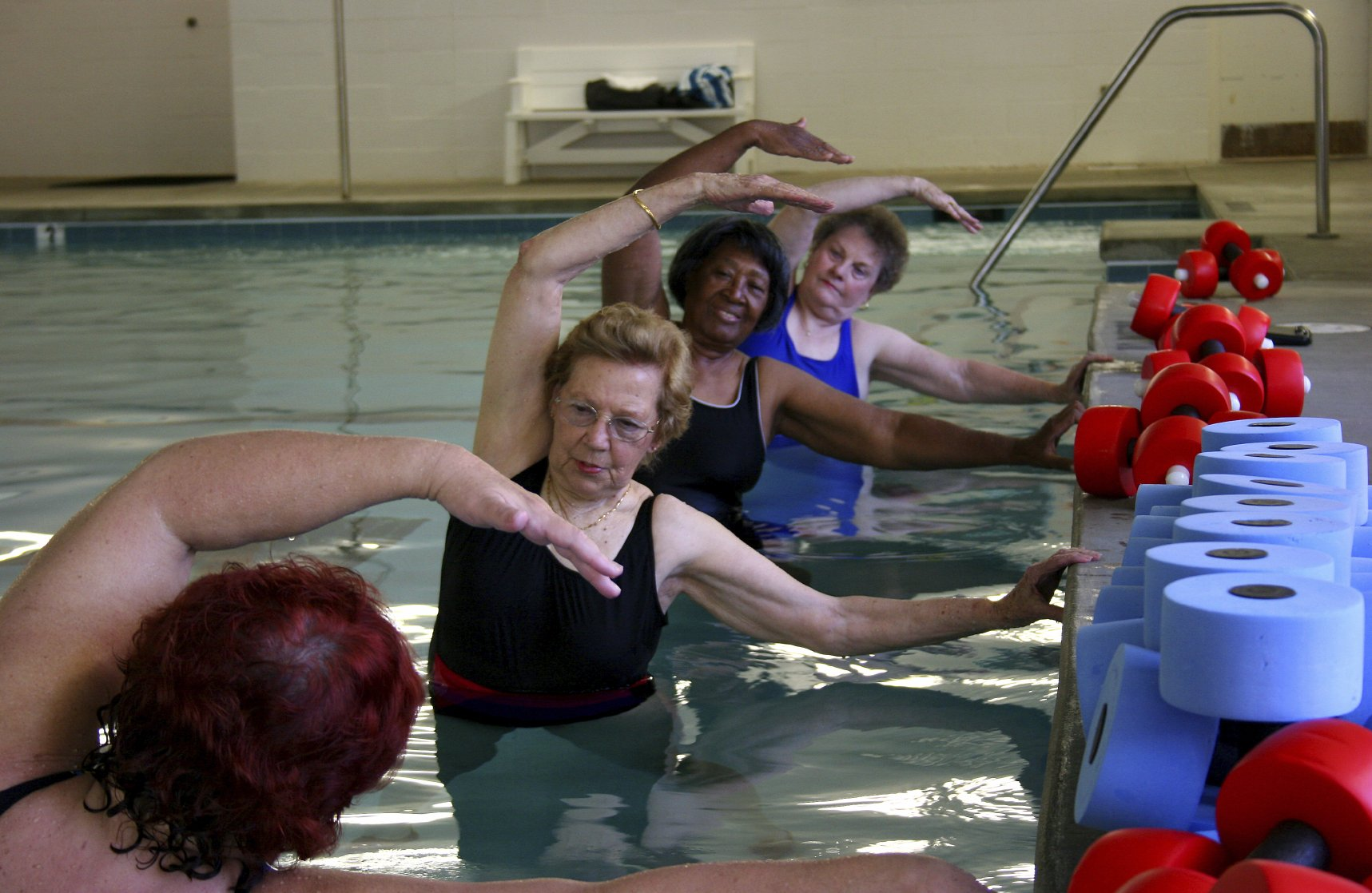 aqua aerobics classes are great for exercise
