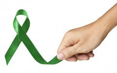 green ribbon for liver cancer awareness