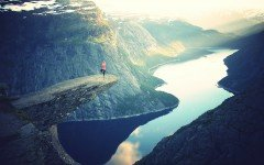 Yoga on a mountain top