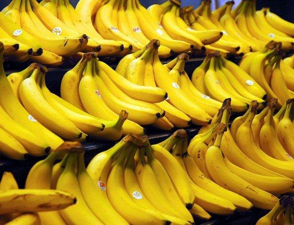 Bananas in a supermarket. Image by Steve Hopson, www.stevehopson.com