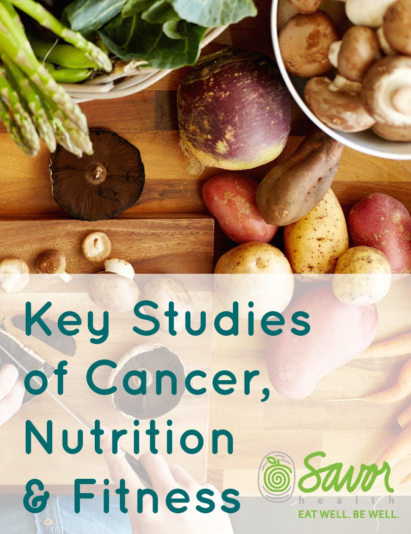 key studies of cancer nutrition and fitness