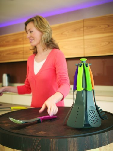 Joseph Joseph 6 Piece Kitchen Utensil Set With Storage Carousel Elevate Multi Color Savor Health