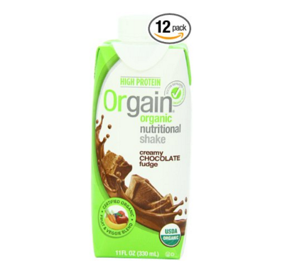 orgain chocolate fudge ready-to-drink certified organic meal replacement