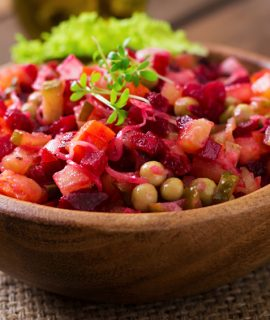 Healthy meals for cancer patients, beet salad vinaigrette
