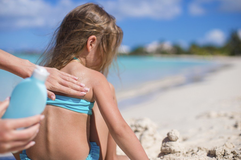 One of the best ways to prevent skin cancer and protect your children from skin cancer is applying sun screen 30 minutes before exposure and reapplying as necessary