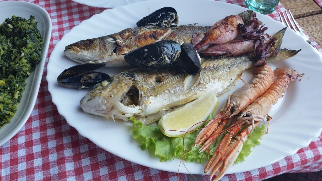 grilled fish and seafood from the mediterranean